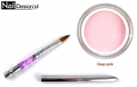 Acrylic Deep PINK 30g + Brush for acrylic foldable size 4