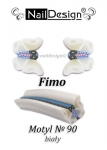 Fimo stick nr 90 butterfly white + jar