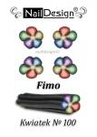 Fimo patyczek nr 100 Kwiatek + pudełko
