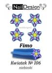 Fimo patyczek nr 106 Kwiatek + pudełko