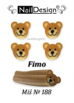 Fimo cane nr 187 Teddy bear + jar