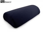 PILLOW terry, dark graphite, granate (25)