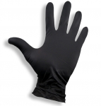 1 pair of nitrile gloves black size: XS