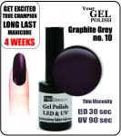 Żel Hybrydowy - Gel Polish - Soak Off - graphite grey 8ml (no. 10)