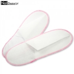 hotel slippers white-pink covered 1 pair
