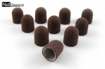 Abrasive Cap 13mm brown 10 pieces - gritt 180