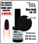 Żel Hybrydowy MAGNETICO Gel Polish - Soak Off - Blue-Gold Effect-M 8ml (no. 53)