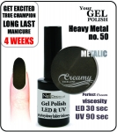 Żel Hybrydowy - Gel Polish - Soak Off - Heavy Metal 8ml (no. 50)