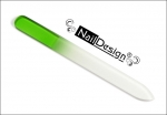 Small green glass nail file