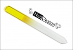 Small yellow glass nail file