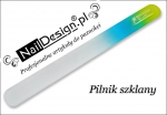 Yellow rainbow glass nail file