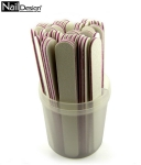 50 x Nail File 100/100 white straight-container Free!