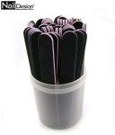 50 x Nail File 100/100 black straight Professional -container Free!