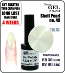 Żel Hybrydowy - GEL Polish 15ml - soak off - shell pearl (no. 49)