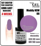 Żel Hybrydowy - GEL Polish 15ml - soak off - muddy new (no. 08)