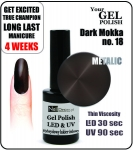 Żel Hybrydowy - Gel Polish - Soak Off - dark mokka 8ml (no. 18)