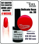 Żel Hybrydowy - GEL Polish 15ml - soak off - delicato rossa (no. 30)