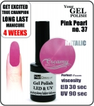hybrydowy lakier - GEL Polish 8ml - soak off - pink pearl (no. 37)