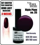 Żel Hybrydowy - GEL Polish 15ml - soak off - riple plum (no. 35)