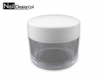 Jar for decorations clear with white cap 10 ml