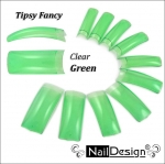Fancy tips Green Clear 10 pcs