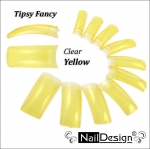 Fancy tips yellow clear 10 pcs