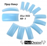 Color Tips - Elegant blue milky ND-1 100 pcs in plastic box