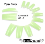 Fancy tips ND-8 Green Milk 10 pcs