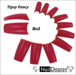 Fancy red color tips 10 pcs