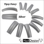 Fancy Tips Profi Studio Line - silver 10 pcs