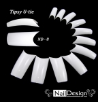 Tipsy Tipsy U-tie white with a big smile 60 pcs Naildesign