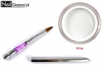 Acrylic WHITE 30 + Brush for acrylic foldable size 4