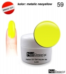 Relax UV Gel Polish Lackier Soak Off 5ml - metalic neoyellow (59)