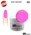 Relax UV Gel Polish Lackier Soak Off  5ml - holo pink ( 66 )