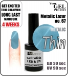GEL Polish 8ml - soak off - metalic lazur (no. 67)