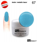 Relax UV Gel Polish Lackier Soak Off 5ml - metalic lazur ( 67 )