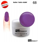 Relax UV Gel Polish Lackier Soak Off 5ml - holo violet ( 68 )