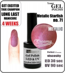 Żel Hybrydowy - GEL Polish 8ml - soak off - metalic starfish (no. 71)
