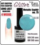 GEL Polish 8ml - soak off - metalic saphir (no. 75)