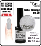 Żel Hybrydowy - GEL Polish 8ml - soak off - brokat diamond (no. 79) autumn